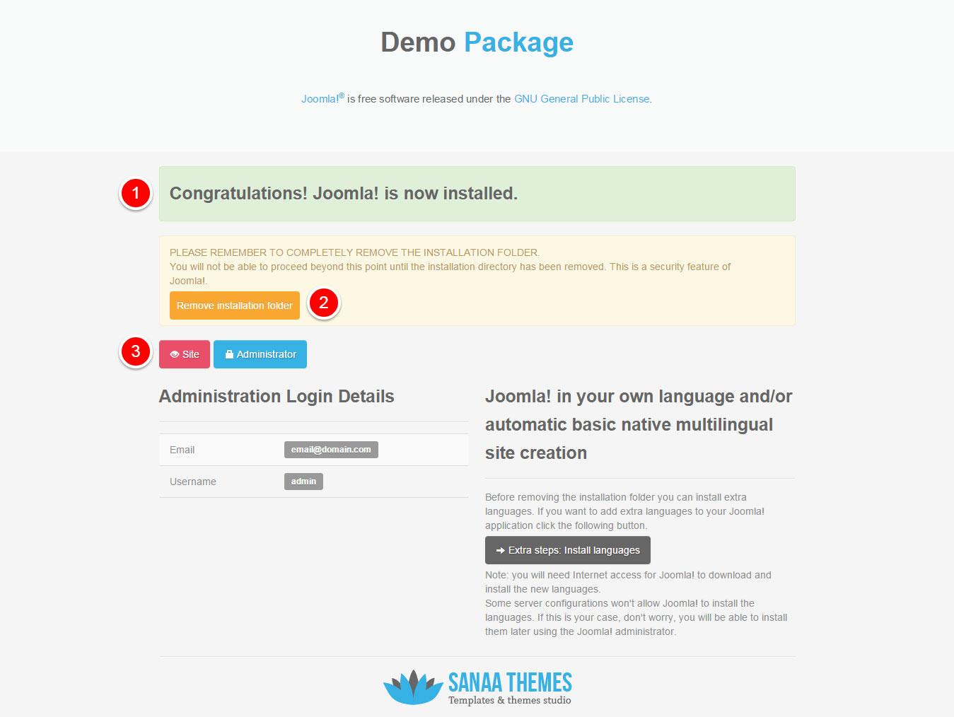 Joomla Template Demo Package Installation 5
