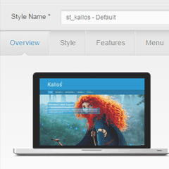 Kallos Joomla template with Admin Panel