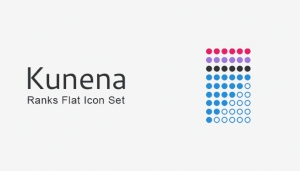 Kunena Ranks Flat Icons Set